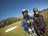 Giddy after paragliding  in Sun Valley, Idaho. It's fun to fly!