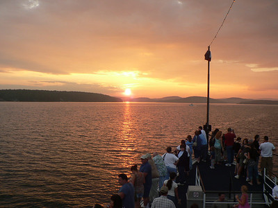 Sunset cruise on Lake Winnipesaukee, New hampshire aboard the M/S Mount Washington.