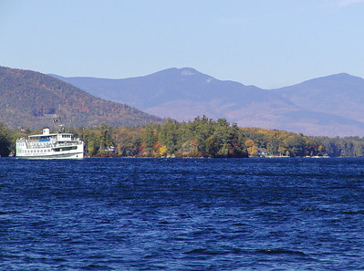 M/S Mount Washington on Lake Winnipesaukee. Ossipee Mountain range in the background.