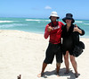 Thanking my surf coach for an awesome day in Oahu, Hawaii.
