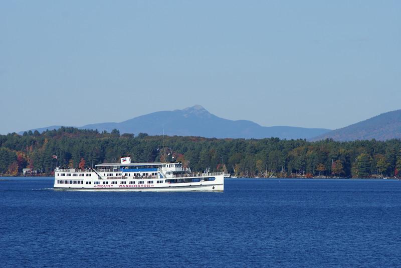 M/S Mount Washington on Lake Winnipesaukee.  Mount Chocorua in the background.