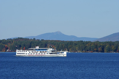 M/S Mount Washington on Lake Winnipesaukee.  Mount Chocorua in the background.