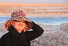 Sitting by the salt beds in the north in San Pedro Atacama, Chile. Bliss...