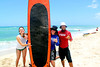 Surfer Girl in Oahu, Hawaii. Finsihing up our surf lesson w/ the Hawaiian Firemen. RTC!