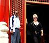 In the Forbidden City in Beijing. Not sure who he is.