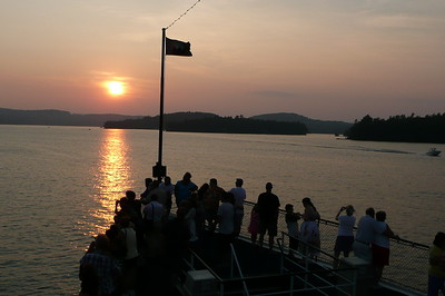 Sunset on Lake Winnipesaukee aboard the M/S Mount Washington.