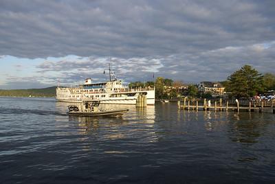 M/S Mount Washington arriving in Meredith on Lake Winnipesaukee, NH