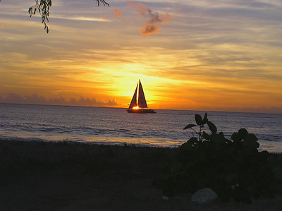 West Coast of Barbados Sunset