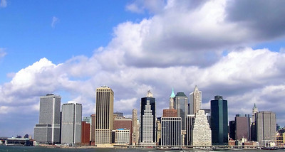 Lower Manhattan viewed from Brooklyn Heights.