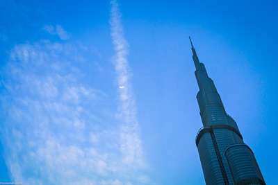 Burj Khalifah and the Moon - Dubai