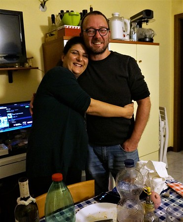 Two lovebirds. Thanks for your generous tutelage and delicious pizza and recipes!