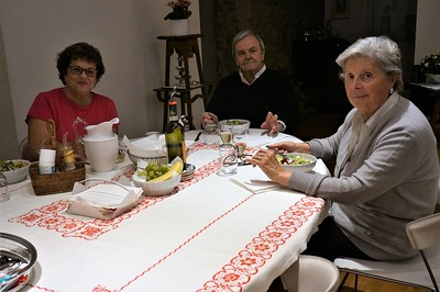 Our last dinner with Enrico and Giulia