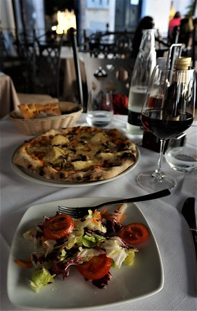 Lunch at Botte - shared sald and pizza