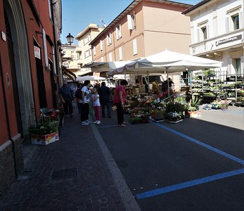 Every Saturday, a town-wide market with everything from fruits and veggies to clothes and jewelry