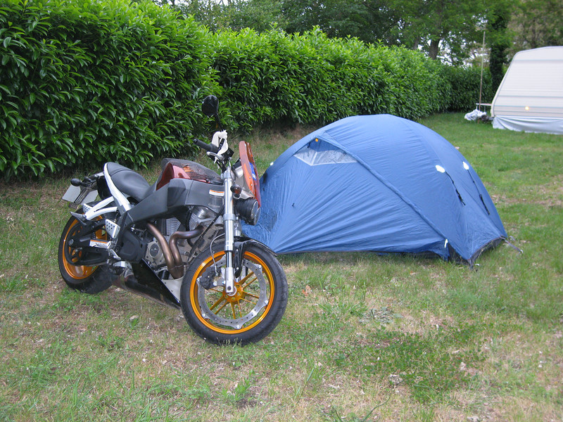 Buell at Loire Campsite in Fargeau the day before it died.