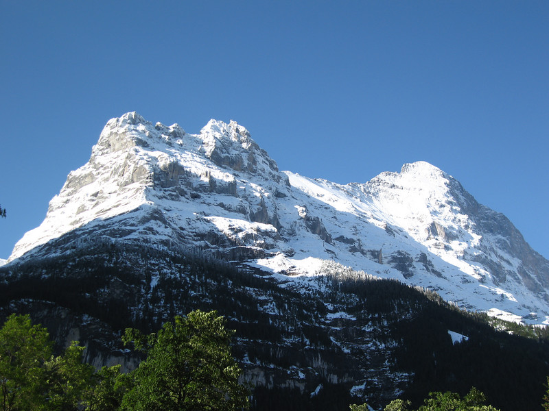 Eiger from the campsite the day after 12 inches of snow
