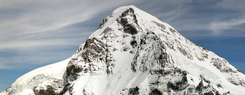 Eiger panorama taken from Jungfraujoch viewing area