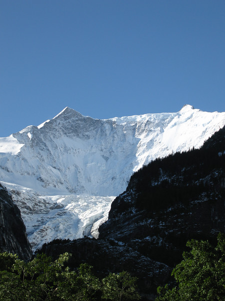 Grindelwald Glacier from campsite
