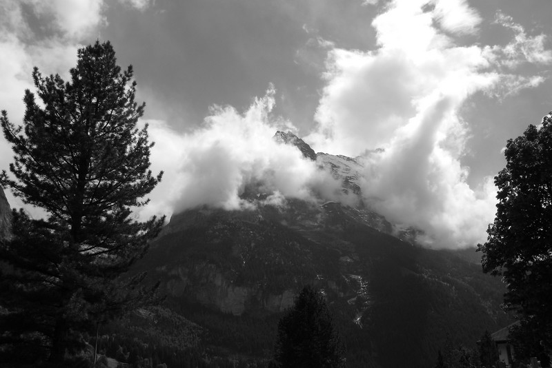 Cloudy Eiger. It  was like that most of the time!
