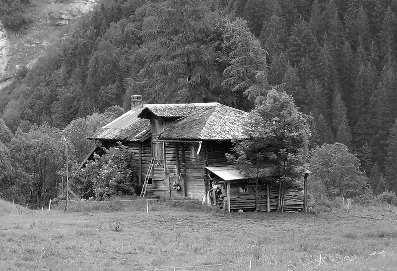 An old barn in grindelwald