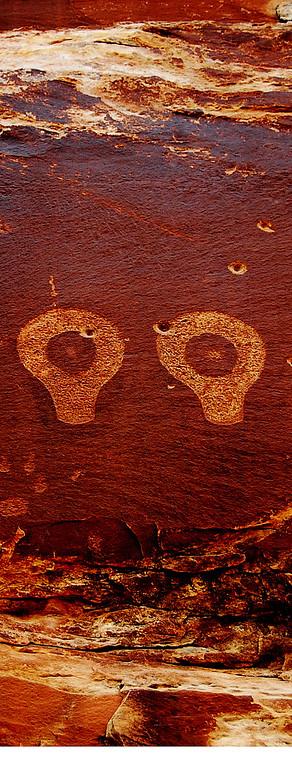 Butler Wash Wolfman Petroglyphs, Bluff, UT 7-08