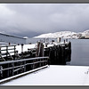 Abandoned ferry quay - with the first snow of the year