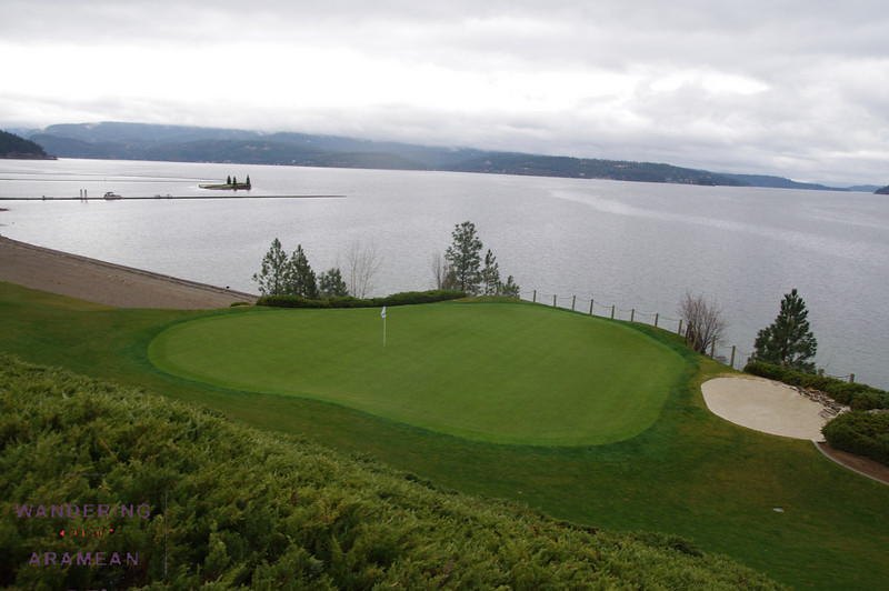 View of the 3rd green at Coeur d'Alene golf course