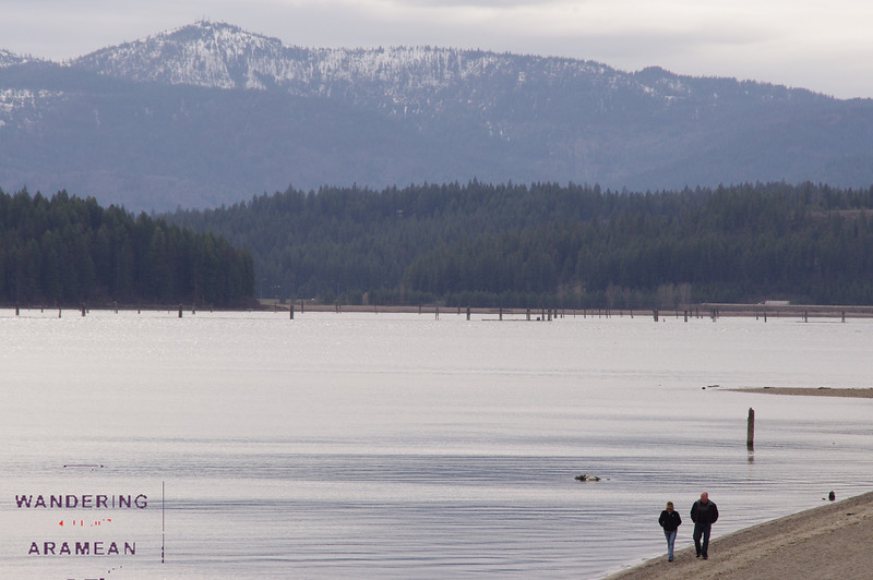 Walking the beach along Lake Coeur d'Alene