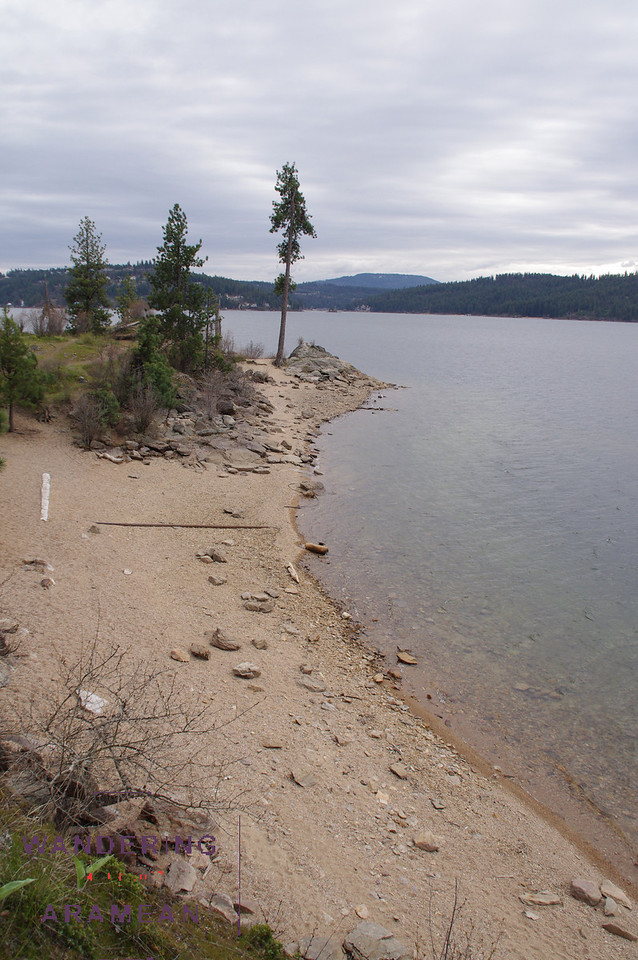 One of the many beaches on Tubbs Hill