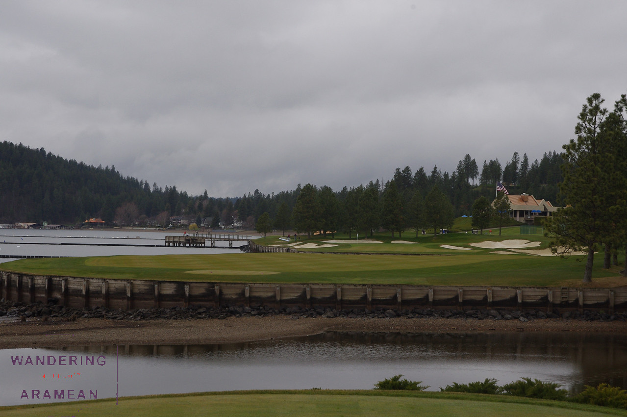 View from the 12th tee box in Coeur d'Alene