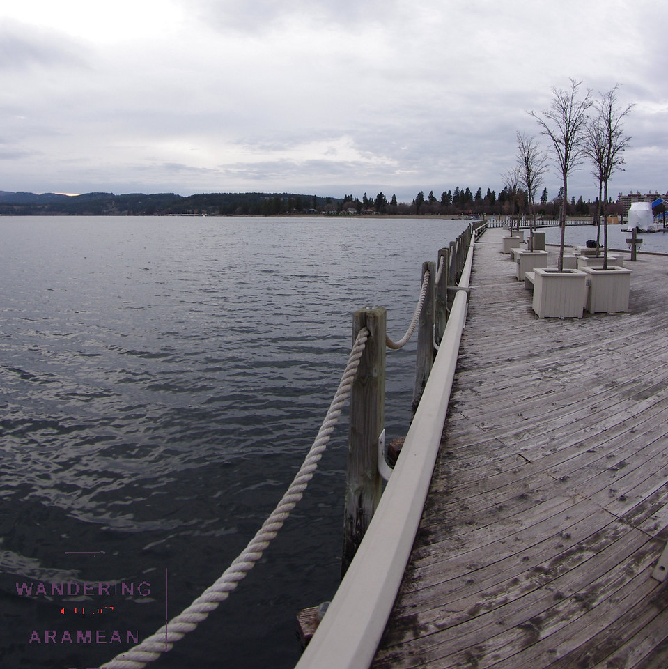 Along the boardwalk in Coeur d'Alene