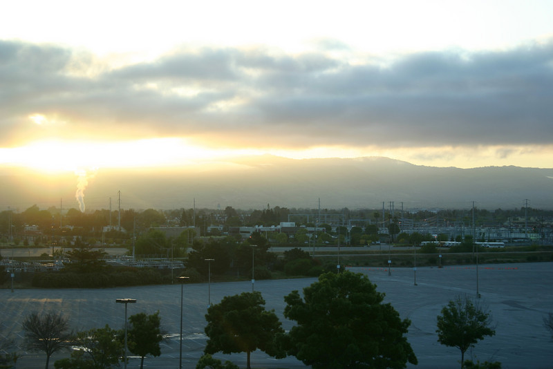 Sunrise on the first day of the MySQL Conference.
