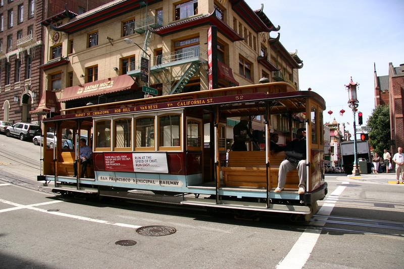 California Street cable car.