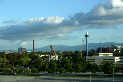 View of Great America Park from my hotel room in Santa Clara.