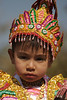 Young girl, Buddhist procession, Old Bagan
