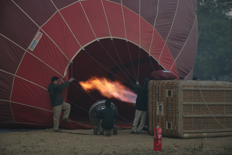 Inflating our Balloon - Balloons Over Bagan
