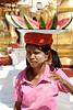 Watermellon lady, Shwedagon Pagoda, Yangon