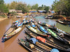 Boats at Indein Market - Inle Lake