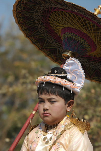 Novice-to-be, Buddhist procession, Old Bagan