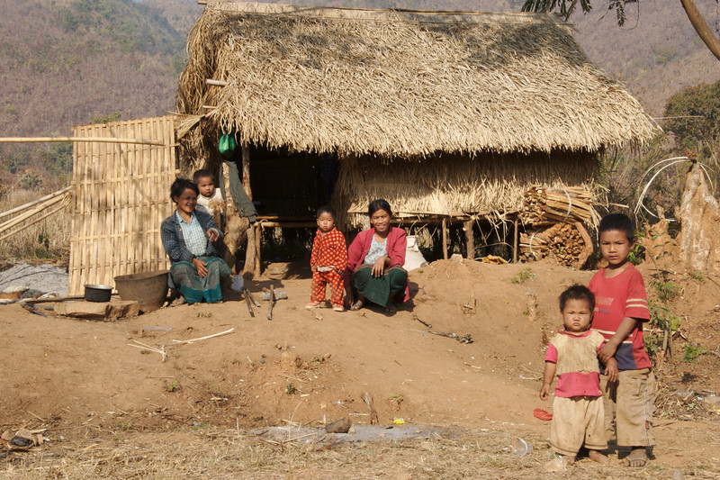 Family along the road to Taunggyi from Inle Lake