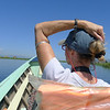 Traveling on Inle Lake in our own boat was magical. Pat takes in the beautiful views. by Benjamin