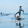 The amazing fishermen on Inle Lake who row by using only one leg wrapped around the oar. by Doug