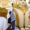 Jook photographs at the Shwedagon Pagoda, Yangon. by Judi