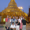 Our group poses in front of the Shwedagon Pagoda. by Myint U