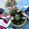 Each morning, the staff made a new flower arrangement at our hotel on Inle Lake. by Doug