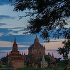 A moonrise over Bagan temples by Jook
