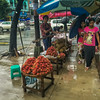 Rambutans and Durians for sale in Yangon
