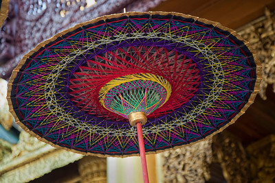 Custom Umbrellas for attending Ear-piercing ceremony at Shwedagon Paya, Yangon