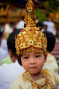 Attending Ear-piercing ceremony at Shwedagon Paya, Yangon