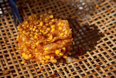 Corn Fritter in Yangon Market